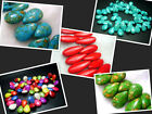 10X14mm,14X18mm,10X25mm,17x25MM New Howlite Turquoise Melon Seeds Loose Beads