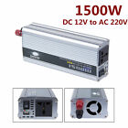 1500W Car Solar Power Inverter 12V-220V / 240V AC Household Car Inverter Solar
