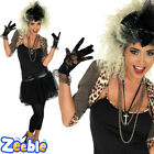 80s Fancy Dress Costume Ladies Madonna Pop Star Outfit UK 8-30
