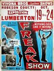 Vintage American Freak Show Poster A3 Print