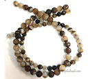 Black Brown Sardonyx Faceted Round beads 15.5in Long , choose size 10mm or 8mm