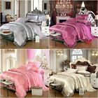 Peony Lace Quilt Cover Set Doona Duvet Cover Bed Pillowcases Set Queen King Size