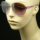 Sunglasses retro vintage fashion style lady women new aviator metal frame lens