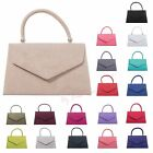 New Retro Suede Wedding Ladies Party Prom Evening Clutch Hand Bag Purse