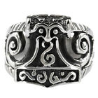 Vintage Style Stainless Steel Thors Hammer Finger Rings Mens Fashion Jewelry