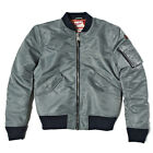 Schott Bros NYC JKTAC American College Colab MA1 GREY Nylon Bomber Jacket