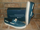 New Sperry Top-Sider Biscayne Teal Blue Canvas Boat shoe
