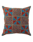 Abstract Cushion Cover Indian Embroidered Cotton Pillow Case Cover Throw 16""