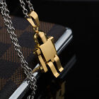 AgentX Silver / Golden Stainless Steel Robot Pendant Mens Fashion Necklace Chain