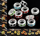 Wholesale Rhinestone Spacer Bead Big Hole Fits European Charm Bracelets Findings