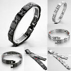 4in1 Square Men's Health Magnetic Energy Germanium Therapy Power Steel Bracelet