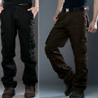 Fashion Men's Casual Cotton Trousers Military Cargo Combat Long Pants Camouflage