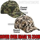 Adult Camo Hat Structured Adjustable 6 Panel Baseball Cap NEW!