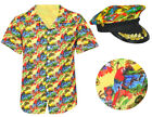 YELLOW 2 PIECE HAWAIIAN CAPTAIN COSTUME SHIRT AND HAT SUMMER FANCY DRESS PARTY