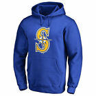 Seattle Mariners Secondary Color Primary Logo Pullover Hoodie - Royal - MLB