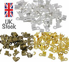 100 x Silver Plated, Gold or Bronze 9mm Folding Clamp End Tip Jewellery Craft UK
