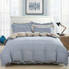 Striped Quilt/Doona Cover Set Single Queen King Size New 100%Cotton Duvet Covers