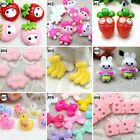 Внешний вид - 10pcs Mixed Colors Cartoon Resin Flatback Hair Accessories DIY Craft 9 Designs-F