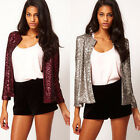 LADIES SMART FITTED BLAZER WOMENS SUIT JACKET CASUAL OFFICE LADY TOP UK S-2XL