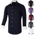 Luxury Men Tailored  Long Sleeve Business Dress Shirt Slim Fit T-Shirts Tee Tops