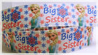 Big Sister Frozen Snowflakes Inspired Movies Shows Printed Grosgrain Ribbon 1""