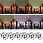 1W 3W LED Square Art Wall Sconces Lights Hall Porch Walkway Wall Fixture Lamp
