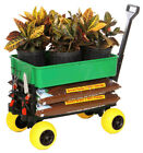 Garden Gardening Cart Wagon Yard Lawn Trolley Dump Carts ...