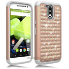For Motorola Moto G4 Plus/Moto G4 Case Bling Armor Hybrid PC+Rubber Phone Cover