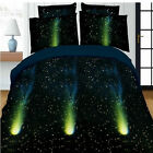 4pc 3D Printed Bed Set Duvet Cover Pillow Galaxy Sky Cosmos Night Bedding