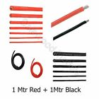 1M Red + 1M Black Silicone Wire Cable 10/12/14/16/18/20/22AWG RC