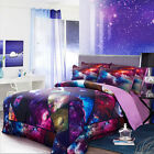 3D Printed Galaxy Universe Outer Space Duvet Cover Bedding Set Full Queen