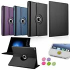 2in1 360 Rotating Folio Leather Stand Case+3.5mm/Home Sticker For iPad Pro 12.9""