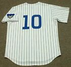 RON SANTO Chicago Cubs 1969 Majestic Cooperstown Throwback Home Baseball Jersey