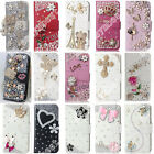 Sweet Elegant Wallet Cover Bling Rhinestone Crystal PU Leather Case For Moto