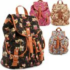 Women Young Vintage Bookbag Travel Rucksack School Bag Satchel Canvas Backpacks