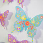 3D Butterfly Home Decor Wall Decal Removable Art Sticker PVC Wall Stickers 12 Pc