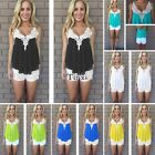 Fashion Women's Lace Vest Top Sleeveless Casual Tank Blouse Tops T-Shirt  Shirt