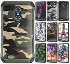 For ZTE ZMAX PRO IMPACT TRI HYBRID Silicone Rubber Skin Phone Case Accesory