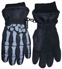 NICE CAPS Boys Kids Youth Skeleton Waterproof Thinsulate Ski Snow Winter Gloves