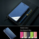 6 Colors Fashion Flip Stand Leather Elegant Matte Case Skin Cover For Huawei GR3