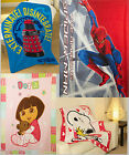 Fleece Blanket BBC licenced DR WHO Spiderman Disney Spongebob Snoopy Dora Hobbit