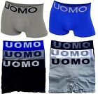 6 Mens Seamless Plain Boxer Briefs Shorts Stretch Trunks UOMO #20 Lot Underwear