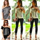 Women Loose Short Sleeve Cotton Casual Blouse Shirt Tops Fashion Summer T-shirtT