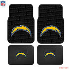 New NFL San Diego Chargers Car Truck Front Rear Rubber Floor Mats 2 $26.98 USD
