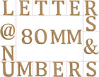 Medium 80mm Wooden MDF Letters, Numbers & Symbols