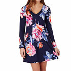 Joules Womens Lizzie Tunic V Neck Navy Rose - Sizes 8, 10 & 12