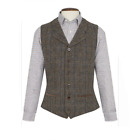New Wool Premium Mens Sumburgh Harris Tweed Waistcoat Coat - Size Various
