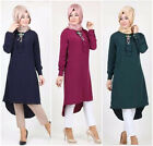 Fashion Muslim Women Dress Long Sleeve Blouse Loose Shirts Turkish Casual Blouse
