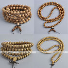 Unisex Natural Wood Buddha Prayer Bead Bracelet & Necklace Reiki Healing Gift