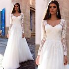 2016 New Illusion Long Sleeves Lace A-line wedding dress, UK tailor bespoke